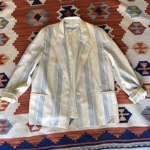 Vintage stripe linen mix blazer